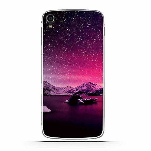 Fubaoda Alcatel One Touch Idol 3 (5.5inch) Hülle, Schöne Aurora Night Series TPU Case Schutzhülle Silikon Case für Alcatel One Touch Idol 3 (5.5inch)