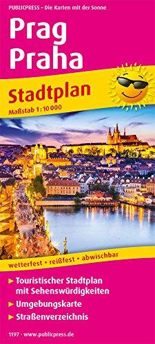 Prag, Praha: Touristischer Stadtplan mit Sehenswürdigkeiten und Straßenverzeichnis. 1:10.000 (Stadtplan / SP)
