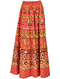 PERFECT CHOICE Women's Cotton Ethnic Long Skirt