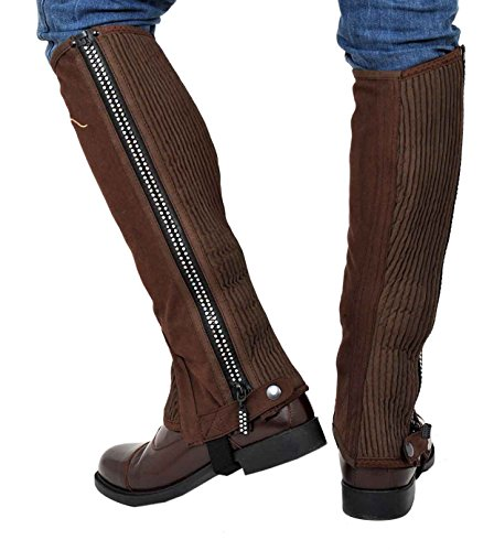 Riders Trend, Ghette da equitazione Bambina, cerniera decorata con brillantini Marrone (Braun - Braun - Chocolate Brown)