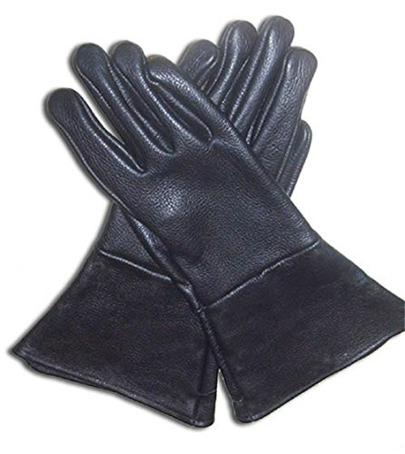 r Gauntlet schwarz Extra Klein Handschuhe lang Arm Manschette ()
