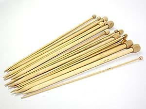 Budget Aiguilles à tricoter en bambou 30cm longue–8mm