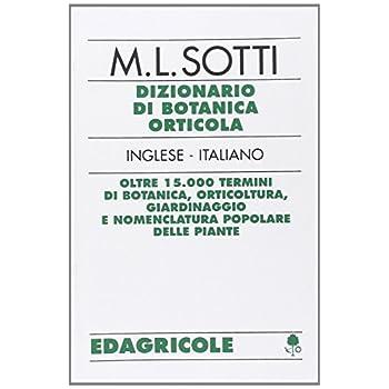 Dizionario Di Botanica Orticola Inglese-Italiano