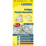 Carte DEPARTEMENTS Ariege, Haute-Garonne