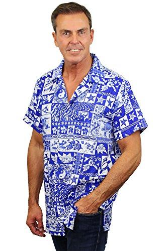 Original-King-Kameha-Funky-Camisa-Hawaiana-Seores-XS-6XL-Manga-Corta-Bolsillo-Delantero-impresin-De-Hawaii-Puzzle-diferentes-colores
