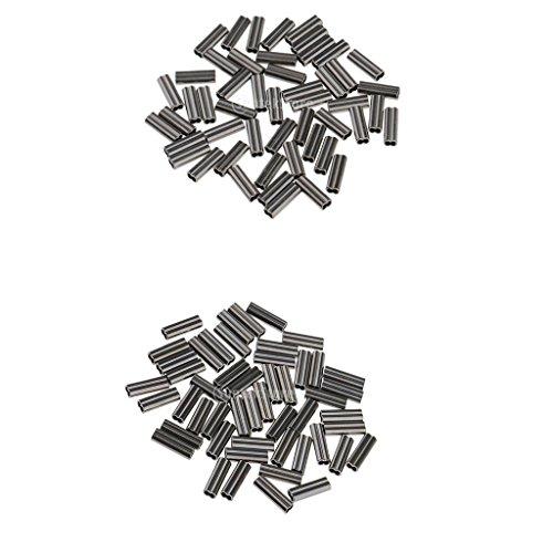Sharplace 100 Stücke Angeln Klemm Hülsen Klemm Verbinder für die Herstellung von Rigs -