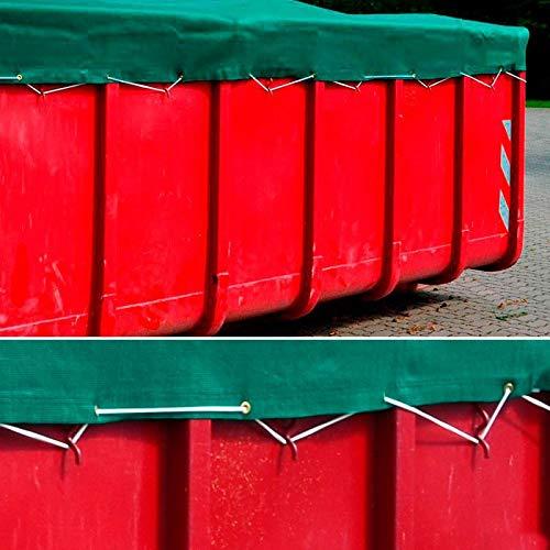 Donet Anhängernetz, Containernetz feinmaschig 3,50 x 6,00 m grün zur Ladungssicherung mit Gummiseil