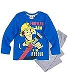 Feuerwehrmann Sam Jungen Pyjama - blau - 104