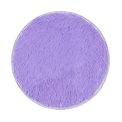 Covermason Soft Thickened Circular Rug Carpet Mats For Dining Room Bedroom Floor 40X40CM - low-cost UK light shop.