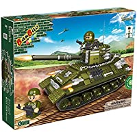 Banbao Construction Building Bricks Blocks 330 Piece Centurion Military Tank - Can Use With Leading Brands - Entertaining Activity Toys & Games Age 5+ Top Selling Boy Children Boys Child Kids - Wonderful Idea for Christmas Easter or Birthday Present Gift - Compare prices on radiocontrollers.eu