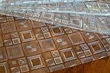 Wachstuch Tischdecke Abwaschbar Eckig 140 x 180 cm Meterware, durchsichtig