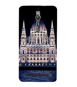 ifasho Designer Phone Back Case Cover Asus Zenfone 2 ZE551ML ( Running Horse Sunset Shadow )