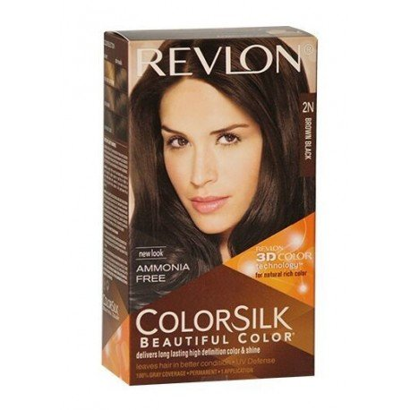 Colorsilk Hair Color with 3D Color Technology Brown Black 2N, 100g