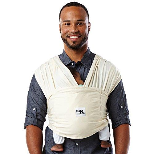 Baby K 'Tan-Mochila portabebés Carrier algodón orgánico Natural Parent blanco natural Talla:pequeño