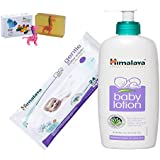 Himalaya Herbals Baby Lotion (400ml)+Himalaya Herbals Gentle Baby Wipes (24 Sheets) With Happy Baby Luxurious Kids Soap With Toy (100gm)