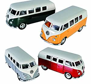 die cast metall 1962 vw camper bus mit pull. Black Bedroom Furniture Sets. Home Design Ideas