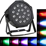 Docooler DMX-512, Luz de Escenario PAR Lámpara Estroboscópico , 1W x 18 LED, AC 110-220V