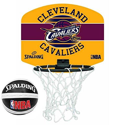 Spalding NBA Team Tragbarer Mini-Basketball-Set, Cleveland Cavaliers