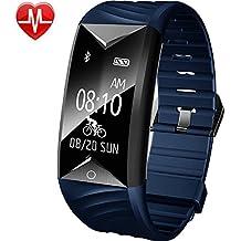 Willful Pulsera Inteligente para Deporte, Fitness Tracker con Pulsómetros, Cronómetro, Gps para running, monitor de ritmo cardiac, Notificación de mensajes, Impermeable IP67, Monitor de Sueño Pulsera