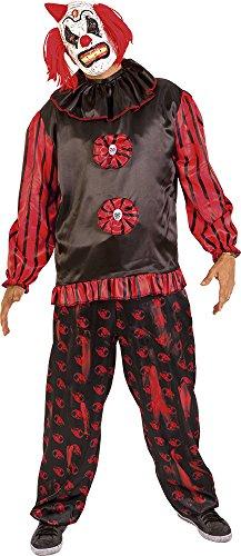 Rubies- Disfraz de payaso siniestro para adultos, Color negro, Talla única (Rubie's Spain S8359)