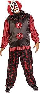 Rubies- Disfraz de payaso siniestro para adultos, Color negro, Talla única (Rubie