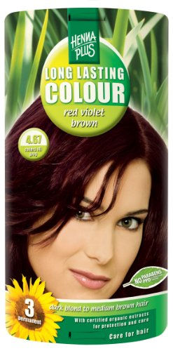 Hennaplus Long Lasting Colour Red violet brown 4.67 - 100 ml -