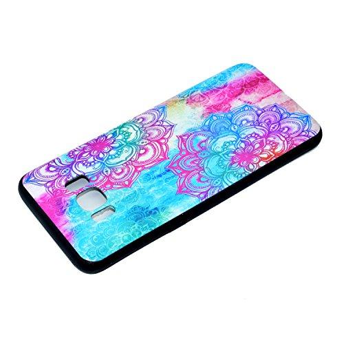 Coque Galaxy S8, Étui Galaxy S8, ISAKEN Coque Samsung Galaxy S8 - Étui Housse Téléphone Étui TPU Silicone Souple Coque Ultra Mince Gel Doux Housse Motif Arrière Case Antichoc Doux Durable Résistant Au Fleur colorée tribale