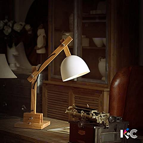 light Wooden Reading Lamp Long Arm Wooden Eye Care Computer