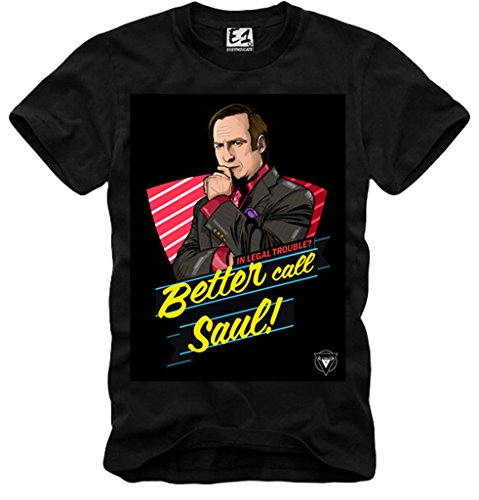E1SYNDICATE T-SHIRT BETTER CALL SAUL GOODMAN BREAKING BAD METH COOK BLUE SKY NERO S-XL