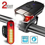 Bike lights Set USB Rechargeable, ITSHINY LED Bike light Front and back Bicycle
