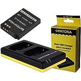 Juego de 3in1para la Nikon Coolpix S9600y Coolpix AW130–-- batería para Nikon EN-EL12(800mAh) + Dual Cargador (Cargue 2baterías Via USB de conector A La Vez) Incluye PATONA displaypad