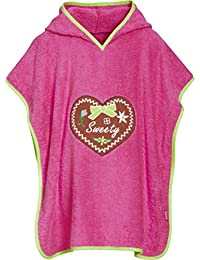 Playshoes Frottee-Poncho, Badeponcho Sweety Mit Kapuze, Peignoir Fille