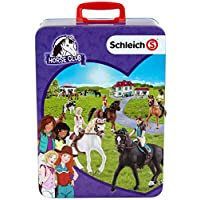 Theo Klein 3115 Schleich Club Tin Collecting Case for 10 Horses, Toy, Multi-Colored