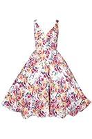 New Ladies Kushi Vintage Retro 50s Swing WW2 Rockabilly Party Prom Dress Size 10-20