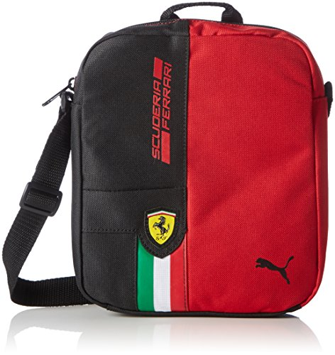borsa-a-tracolla-puma-ferrari-tifosi-portable-rosso-corsa-puma-black-23-x-185-x-6-cm-25-litri-074275
