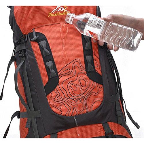 Nuovi 80L all'aperto professionisti uomini e donne sacchetto di alpinismo tracolla zaino grande capacità borsa zaino arancione