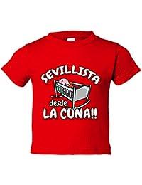 Camiseta niño Sevillista desde la cuna Sevilla fútbol