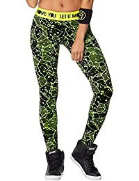 Zumba Fitness Keep On Glowing Legging Femme Caution FR : XXL (Taille Fabricant : XXL)