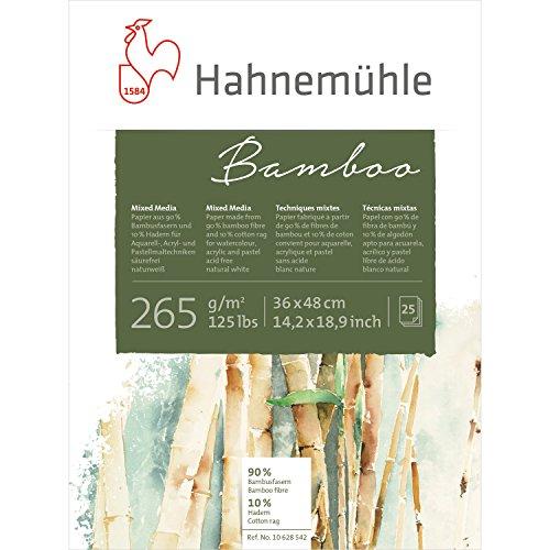 Mixed Media Block Bamboo 265g/m², 36x48cm, 25Blatt (Mixed-media-art-techniken)