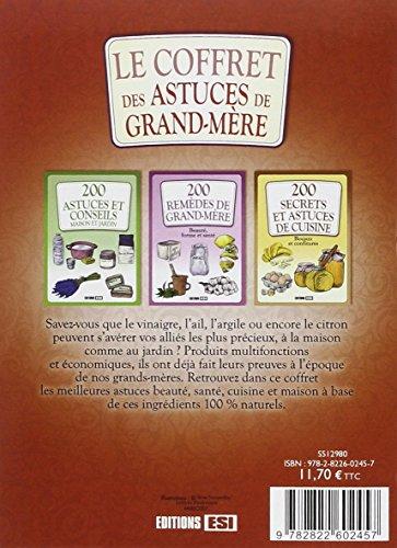 Le Coffret Des Astuces De Grand Mere En 3 Volumes 200 Astuces Et