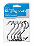 Kitchen Craft Pack of Five Chrome Plated S Hooks 80mm