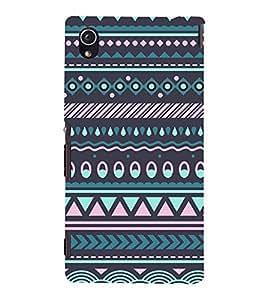 Tribal India Pattern 3D Hard Polycarbonate Designer Back Case Cover for Sony Xperia M4 Aqua :: Sony Xperia M4 Aqua Dual