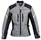 Unbekannt Motorradjacke, Motorradschutzjacke Road Sommertour Damen Textil Jacke 1.0 schwarz/grau XL