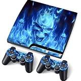 PS3 Slim Playstation Pegatinas de PVC para la Consola + 2...