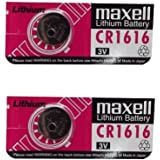 2 Pieces of Maxell CR1616 Lithium Button Coin Cell Battery 3V Imported CR 1616 Fresh Stock