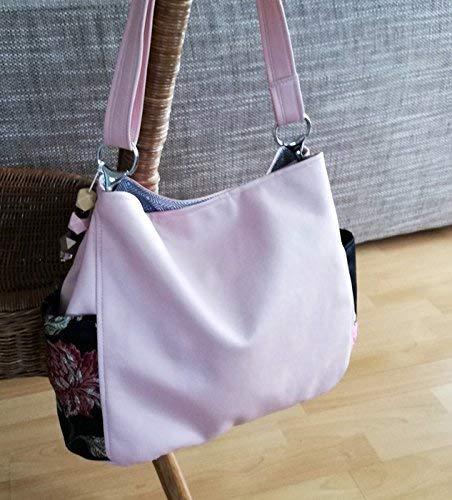 Schultertasche, HOBO-BAG, Handmade -