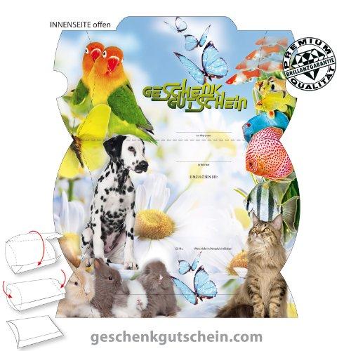25 Stk. Premium Gutschein Boxen für Zoofachhandel, Tierarzt, Tierbedarf ZH302, LIEFERZEIT 2 bis 4 Werktage !