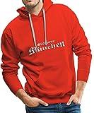 Spreadshirt Südkurve München Männer Premium Hoodie, L, Rot