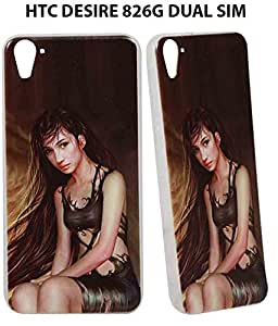 Jkobi(TM) Exclusive Rubberised Back Case Cover For HTC DESIRE 826G DUAL SIM-Beautiful Girl