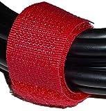 Cablematic - Cinta adherente ordena cables 20x160mm 100 unidades rojo